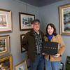 "David and Line' Tutwiler, who have a gallery in Rockport, were commissioned by George Lucas to do several paintings for ""Star Wars Visions.""<br /> Photo by Kate Glass."