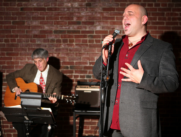 Henry Allen & The New Swingset play at the Green Land Cafe in Salem on a regular basis.<br /> <br /> Photo by Amy Sweeney.
