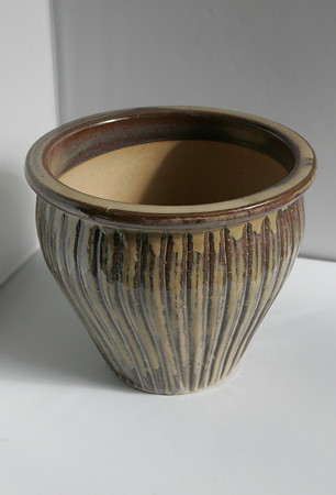 A ceramic pot from Blue Gate Gardens in Rockport - $29.95