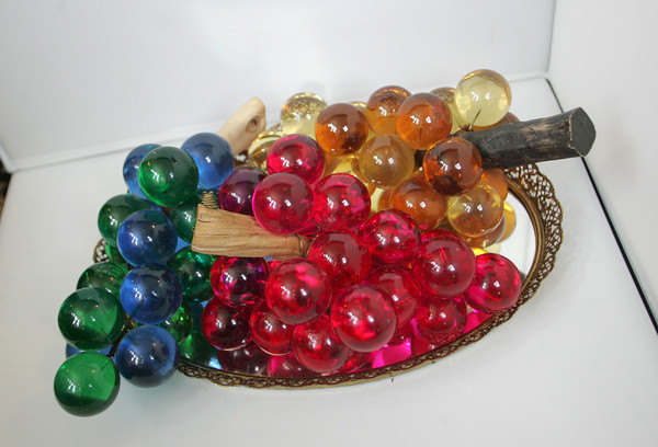 Lucite and driftwood grape bunches from AnnTiques in Essex. $35 a bunch.