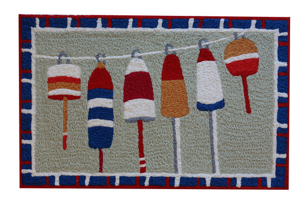 Jelly bean indoor/outdoor washable rug made from 35% recycled material. $30 <br /> Ace Hometown Hardware<br /> 231 Gloucester Crossing, Gloucester.