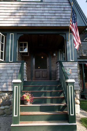 Peter and Julie Fariel turned a simple summer cottage on Norwood Ave in Rockport into an elegant year-round home.<br /> Photo by Kate Glass.