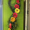 Gerber Daisy wreath from Blue Gate Gardens in Rockport - $34.95<br /> 124 Main St. Rockport.