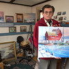 Desi Smith/Cape Ann Magazine. Capt. Steve Squillace, who owns a sea shell shop on Bearskin Neck in Rockport, estimates that he has sold more than 100 paintings featuring the Motif No. 1.