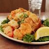 Allegra Boverman/Cape Ann Magazine. The shrimp scampi bruschetta appetizer at Village Restaurant in Essex.