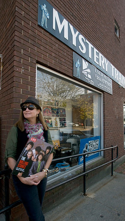 Jim Vaiknoras/Cape Ann Magazine: Meg Griffin at Mystery Train Records in Gloucester.