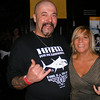 """Gail McCarthy/Cape Ann Magazine. Capt. Dave Marciano of the fishing vessel Hard Merchandise and his wife, Nancy, at the """"Wicked Tuna"""" season two premiere in Boston."""