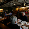 Allegra Boverman/Cape Ann Magazine. One of the dining rooms at Village Restaurant in Essex.