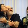 "Photo courtesy of Mirjana Ristic Damjanovic/Cape Ann Magazine. Seth Yorra of Rockport rehearsing the opera ""Pimpinone"" in Belgrade with bass Iliya Iliev, right and soprano Rada Nossikova, left."
