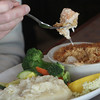 Allegra Boverman/Cape Ann Magazine. The seafood pie at Village Restaurant in Essex. Eaten by Chris Viegaard of Gloucester.