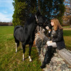Jim Vaiknoras/Cape Ann Magazine: Meg Griffin with her horse Soxy near Myopia in Hamilton.