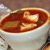 Allegra Boverman/Cape Ann Magazine. The Sicilian Style Fish Chowder at Village Restaurant in Essex.