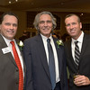 The evening's stars, from left: Outgoing president Mark Grenier of BankGloucester , new President Ed Collard of House Doctors of Cape Ann and friend and emcee Joey Ciaramitaro of Capt. Joe and Sons Wholesale Lobster Co. and GoodMorningGloucester.org.