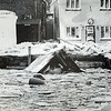 Gloucester Daily Times file photo/Cape Ann Storm Force! The remains of Motif No. 1 floated in Rockport's North Basin from the Blizzard of 78.