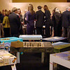 """E.J.  Lefavour/Courtesy photo.  Parsons tables, painted by local artists, on display before being auctioned at the Pathways for Children gala, """"A Place at the Table,"""" held Nov. 9."""