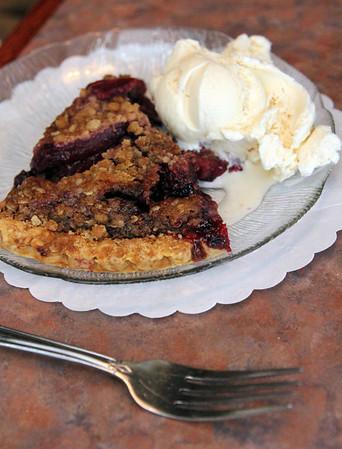 Allegra Boverman/Cape Ann Magazine. The mixed berry pie at Village Restaurant in Essex.