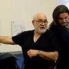 "Mirjana Ristic Damjanovic/Courtesy photo. Seth Yorra of Rockport rehearses the opera ""Pimpinone"" in Belgrade with bass Iliya Iliev, right."