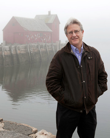 """Robert M. Ring/Cape Ann Magazine. L.M. Vincent, a physician and a writer who now resides in Manchester-by-the-Sea, wrote about his personal journey to learn about the history of Rockport's famed fish shack in his book """"In Search of Motif No. 1."""" The Manchester-by-the-Sea resident sought to sort out the myth from the facts. The book was cited as a """"must read"""" in the non-fiction category by the Massachusetts Center for the Book for 2012."""
