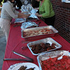 Allegra Boverman/Cape Ann Magazine. The buffet is laid out for the feast that begins after the St. Anthony's novena and the celebration begins.