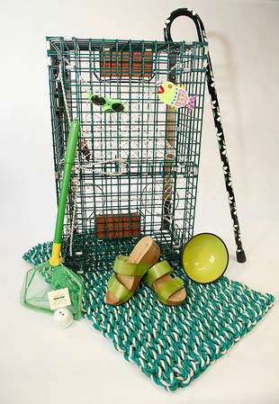"""Allegra Boverman/Cape Ann Magazine. 1, 2. Catch some green sea critters with this small lobster trap, $xx, or Creature Catcher net (great for butterflies, too), $xx, Winchester Fishing Co., 18 Washington St., Gloucester, winchesterfishingcompany.com, 978-281-1619. Need a license to recreationally trap lobsters? Visit <a href=""""http://1.usa.gov/l6JFr9"""">http://1.usa.gov/l6JFr9</a> for forms and fees. 3. Relax with Rockport-made Gettin Lucky fizzing bath bomb, $4, Joncien, 25 Bearskin Neck, Rockport, thejoncien@comcast.net, 978-546-9161. 4. Keep snow, mud or sand out of the house by rubbing shoes on this handwoven float rope Down East Doormat, $58, Sea Meadow, 7 Main St., Essex, seameadowgifts.com, 978-768-3441. 5. Cork-sole wedge Cody sandals, $89.95, Mark Adrian Shoes, 103 Main St., Gloucester, markadrianshoes.com, 978-283-4343. 6. Great for gaucomole or kibble, footed bowl, $13.99, Animal Krackers, 232 Main St., Gloucester, animalkrackerspetsupplies.com, 978-283-1186. 7. Add dash to an outfit with this hand-painted cane, black with white daises, $75, The Elegant Cane at Joncien,25 Bearskin Neck, Rockport, theelegantcane.com, 888-244-2020. 8. Fish magnet handpainted by Glenny will brighten up the fridge, $10, Premier Imprints, 48 Main St., Gloucester, premier-imprints.com, 978-282-3227. 9.Children's sunglasses fight the glare on ice or late snow, or on sunny days, and they're adjustable, $15, Ocean Optical, 127 Eastern Ave., Gloucester. oceanopticalcapeann.com, 978-282-1923.<br />"""