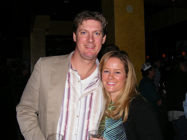 """Gail McCarthy/Cape Ann Magazine. At the """"Wicked Tuna"""" season two premiere in Boston are Drew Hale, a co-director of Gloucester's Bluefin Blowout, and his wife, Lindsay Hale."""