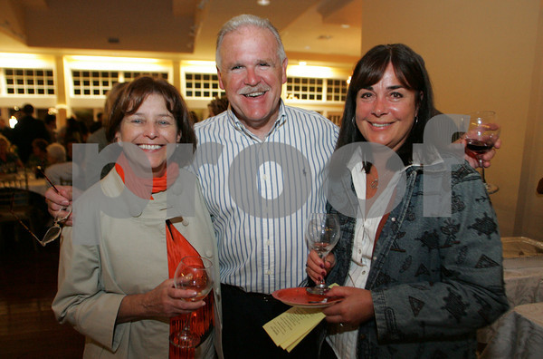 Gloucester: Pam Bender, Tim Sanborn and Nancy Sanborn attend the taste of Cape Ann at Cruiseport. Mary Muckenhoupt/Gloucester Daily Times