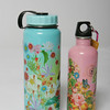 Stay away from plastic and paper with these stainless steel eco friendly water bottles in museum prints<br /> Lg. water bottle $18<br /> Sm. wattle bottle $16