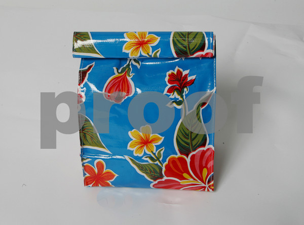 Help save the earth and carry your lunch in this cool Modern durable oilcloth lunch bag. It wipes off and stays soft.  $13