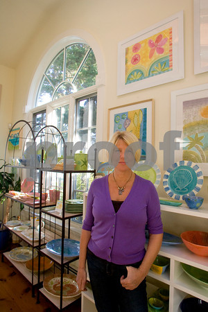 Sigrid Olsen spent 25 years designing clothes. Today she has a studio on Rocky Neck.  Photo by Mary Muckenhoupt