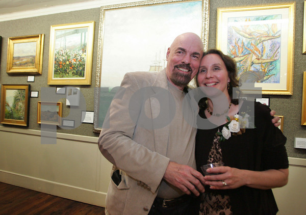 A gathering for artists Roy Blankenship and Lois Showalter  titled ÒPalette Sense and MagicÓ October 10th at the North Shore Art Asscociation. <br /> Pictured - Roy Blankenship and Lois Showalter<br /> Mary Muckenhoupt/Staff Photo