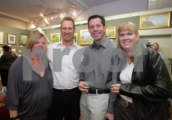 A gathering for artists Roy Blankenship and Lois Showalter  titled ÒPalette Sense and MagicÓ October 10th at the North Shore Art Asscociation. <br /> Pictured - Janelle and Erik Dembrowski and Paul and Anja Comeau<br /> Mary Muckenhoupt/Staff Photo