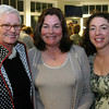 Gloucester: Sheila Collins, left, Marilyn Donati and Melissa Donati <br /> attend the annual Raising the Roof gala to benefit Rockport Music held at the Bass Rocks Golf Club September 26, 2009.<br /> Photo Silvie Lockerova