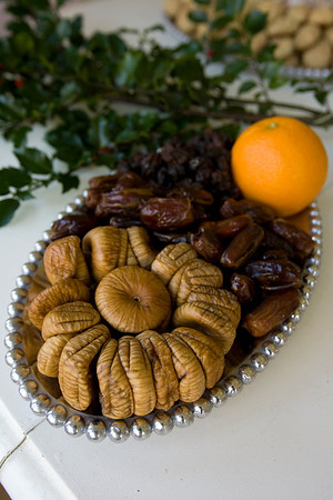 Figs, dates, and the juice and zest of an orange are used to make the filling for Felicia Mohan's cucciadatta cookies.
