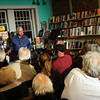 Gerrit Lansing of Gloucester reads the poetry of Charles Olson to a capacity crowd at The Bookstore of Gloucester.