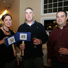 From left, Sarah McGrane, Dan Desmond and mike McGrane attend the St. Ann School Annual Benefit at Cruiseport.  Photo by Mary Muckenhoupt