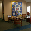 A quilt depicting several of Rockport's famous sites and industries is  on display at Granite Savings Bank's new location on Upper Main Street. The quilt was made to celebrate the country's bicentennial.