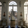 An 8-foot tall Apollo by American sculptor John Rogers stands amongst the other sculptures in the grand room.  <br />  1860<br /> Photo by Amy Sweeney