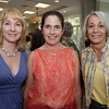 From left, Kelly Gordon, Camilla MacFadyen, and Pam O'Brien, attended the seARTS Wearable Art Benefit held at Bass Rocks Golf Club. David Le/Cape Ann Magazine