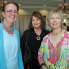 From left, Andree Robert, Eileen Mueller, and Judith Monteferrante, attended seARTS Wearable Art Benefit held at Bass Rocks Golf Club. David Le/Cape Ann Magazine