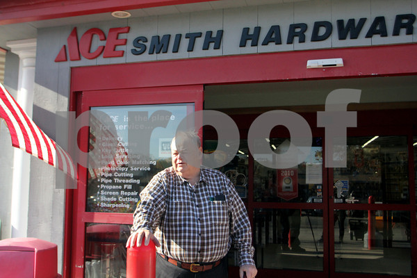 Raymond Smith  outside of Ace Hardware in Rockport.<br /> Photo Jesse Poole.