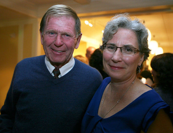 Dick Wilson with Kay O'Rourke, Executive Director of Wellspring House.