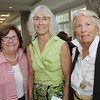 From left, Jan Anderson, Barbara Almy, and Nancy Gaffney, attended seARTS Fashion Show held at Bass Rocks Country Club. David Le/Cape Ann Magazine