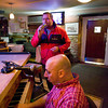 Bartender Scotty Parisi belts out an Italian song with Joe  during a Saturday piano bar session at Guiseppe's Ristorante and Piano Bar. Photo by Desi Smith.