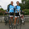Nan Gorton Demaso and Marnie Lawler of Hilltop Training emphasize the use of cycling to reduce injuries while running. Photo by Kate Glass/Gloucester Daily Times