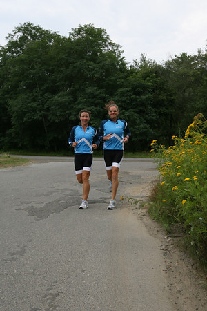 Marnie Lawler and Nan Gorton Demaso of Hilltop Training emphasize the use of cycling to reduce injuries while running. Photo by Kate Glass/Gloucester Daily Times