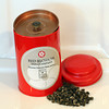 Red Blossom Tea Company organic Dragon Pearl Jasmine tea. It blooms in<br /> hot water. $14.50 for the tin of 15 servings. Lulu's Pantry.