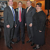 Gloucester:  Massachusetts House of Representatives Brad Hill, former Chamber president Mark Grenier, Congressman John Tierney and Vice-President City Councillor Safatia Romeo-Theken at the Chamber Dinner at Cruiseport Saturday night. Desi Smith/Gloucester Daily Times January 28,2012.