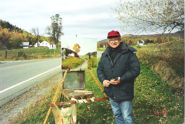 Courtesy photo<br /> Ron Straka oftens paints en plein air in Vermont.