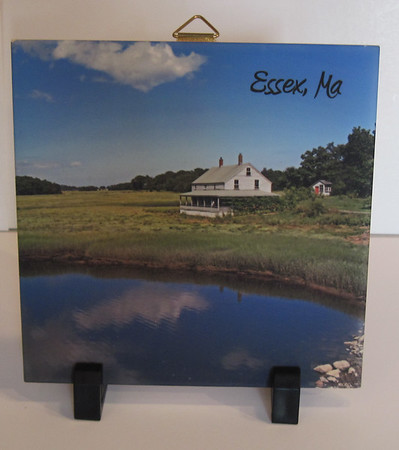 GAIL McCARTHY/Staff photo<br /> The House on the Marsh trivet, $xx, from Premier Imprints