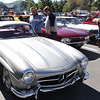 Vincenzo Dimino photo<br /> Gaskelo, left, and Ethan Bruce of Gloucester check out a Mercedes 300SL Roadster, made from 1954 to 1963.